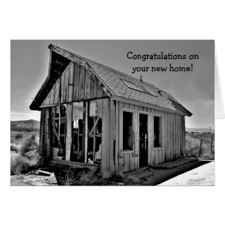 Shack funny new home congratulations greeting card