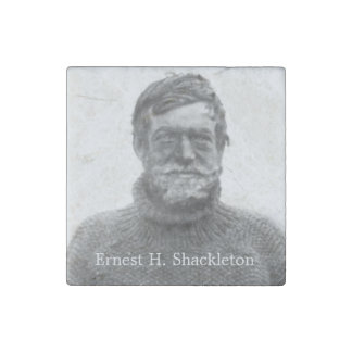 Shackleton in Antarctic Nimrod picture Stone Magnet