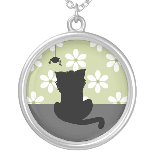 Shaddy Cat Silver Plated Necklace