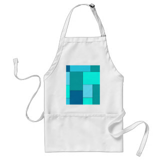 Shade of Blue Color Block Standard Apron