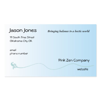 Shaded Blue with Fleur de lis line Business Card Template