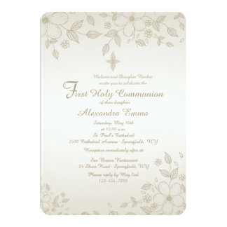 Shaded Floral Invitation