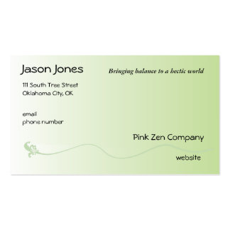 Shaded Green with Fleur de lis line Pack Of Standard Business Cards