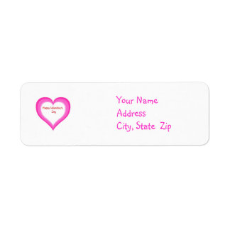 Shaded Heart - Address Labels