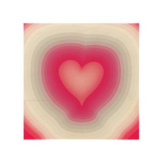 Shaded Layered Heart Design Wood Wall Art