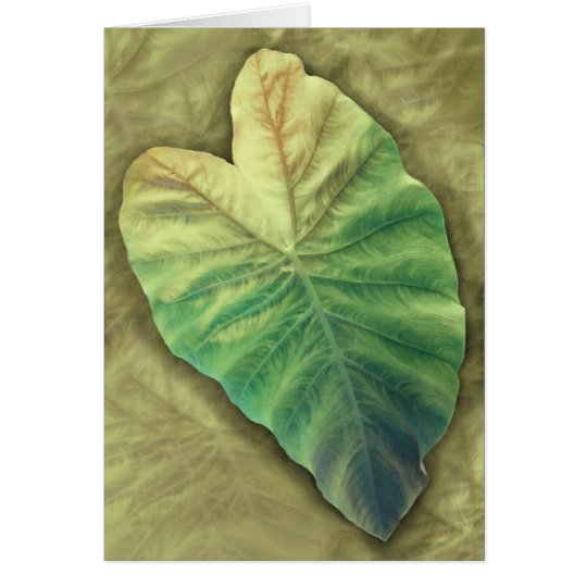 Shaded Leaf Card