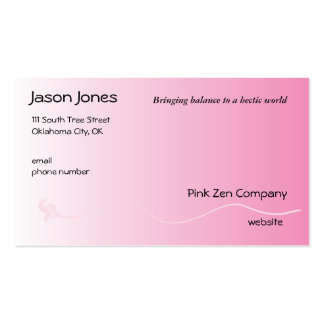 Shaded Pink with Fleur de lis line Business Cards