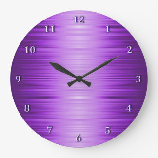 Shaded Purple Violet Lavender Wall Clock