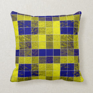 Shades Blues-Yellows Boxes Soft-Pillows Cushion