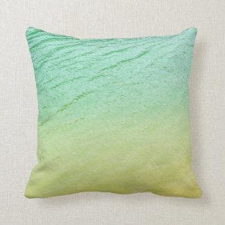 Shades of a lake throw pillow