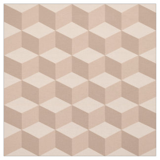 Shades of Apricot 3D Look Cubes Pattern 20P Fabric