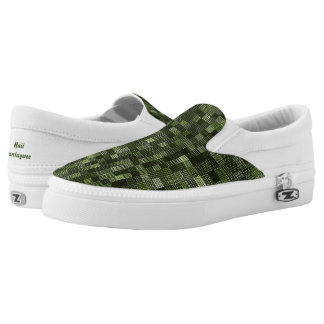 Shades Of Army Green Printed Shoes