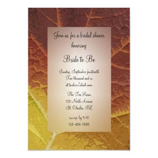 Shades of Autumn Bridal Shower 13 Cm X 18 Cm Invitation Card