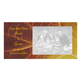 Shades of Autumn Wedding Save the Date Card
