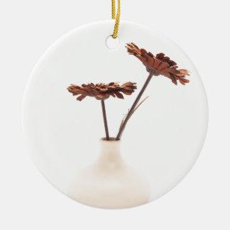 Shades of Beige Round Ceramic Decoration