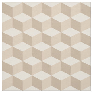 Shades of Bisque 3D Look Cubes Pattern 20P Fabric