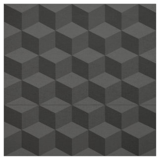 Shades of Black 3D Look Cubes Pattern 20P Fabric