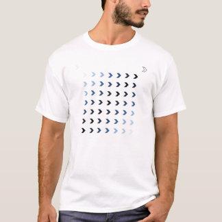 Shades Of Blue 1 Chevrons T-Shirt