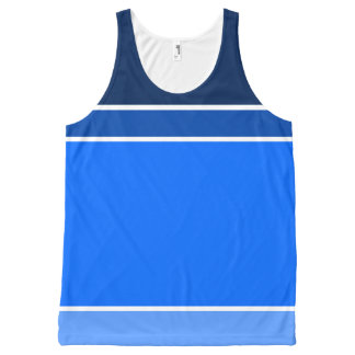 shades of blue All-Over print tank top