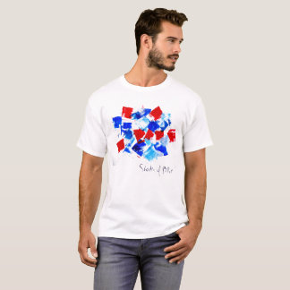 Shades of Blue Artist Designed Unisex T T-Shirt