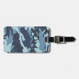 Shades of Blue Camo Luggage Tag