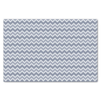 Shades of Blue Chevron Striped Tissue Paper