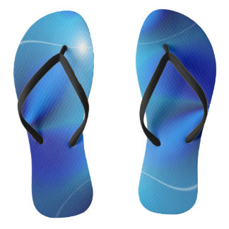 Shades of Blue Flip Flops