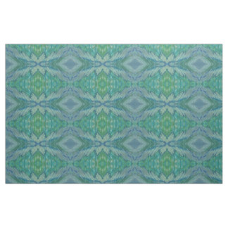 Shades of Blue Green Sage Coastal Fabric 'Haiti'