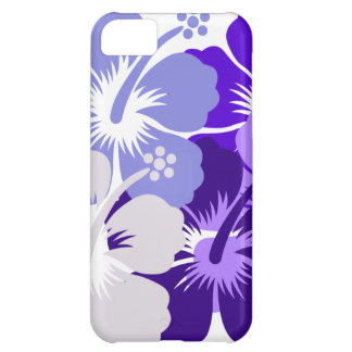 Shades of blue hibiscus design iPhone 5C case
