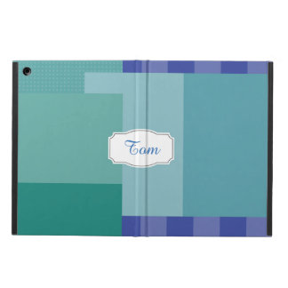 Shades of Blue in squares&rectangles Case For iPad Air