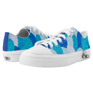 Shades of Blue Low Tops