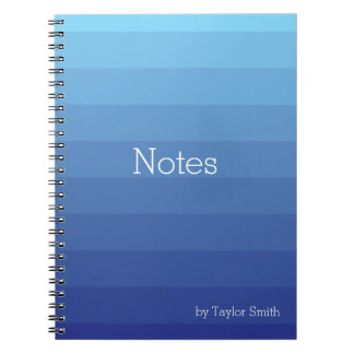 Shades of Blue Ombre Notebook