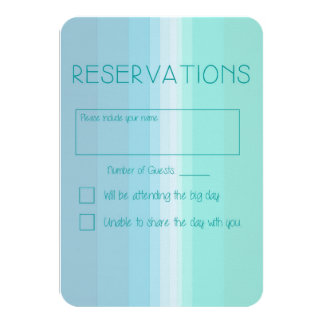 Shades of Blue Ombre Wedding Reply Card 9 Cm X 13 Cm Invitation Card