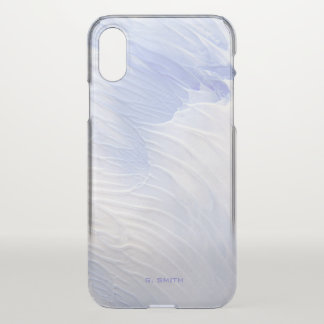 Shades of Blue Paint Texture iPhone X Case