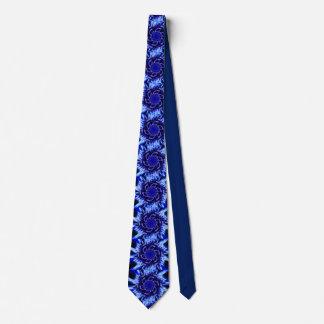 Shades of blue pinwheel tie