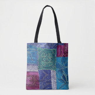 SHADES OF BLUE, purple, and teal - HANDBAG