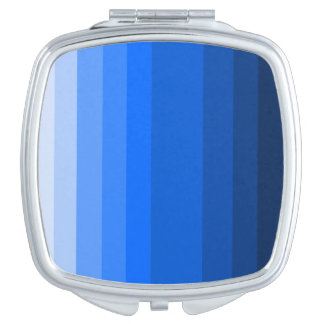 Shades of Blue Square Compact Mirror