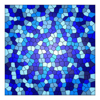 Shades Of Blue Stained Glass Photo Print