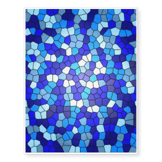 Shades Of Blue Stained Glass Temporary Tattoos