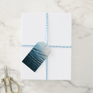 Shades of Blue Water Abstract Nature Photography Gift Tags