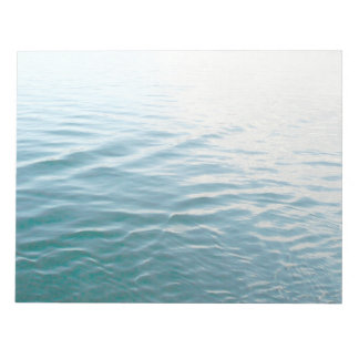 Shades of Blue Water Abstract Nature Photography Notepad