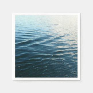 Shades of Blue Water Abstract Nature Photography Paper Napkins