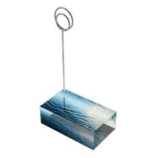 Shades of Blue Water Abstract Nature Photography Table Card Holder