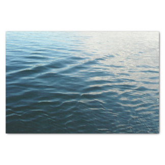 Shades of Blue Water Abstract Nature Photography Tissue Paper