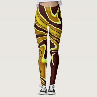 Shades of Brown Abstract Print Leggings