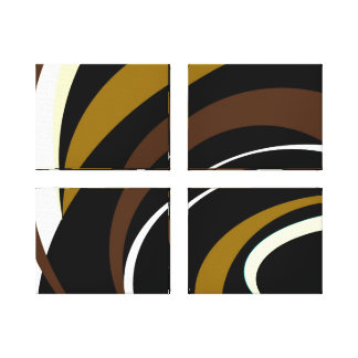 Shades of Brown Design Canvas Print