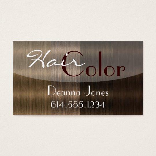 Shades of Brown Hair 4 Colour Salon Business Cards