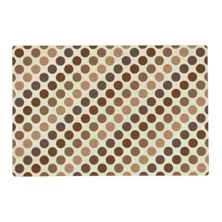 Shades Of Brown Polka Dots Laminated Placemat