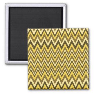 Shades of Brown Zig Zag Design Refrigerator Magnet