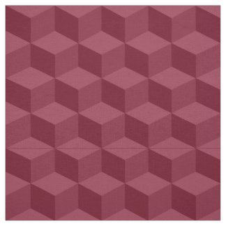 Shades of Burgundy 3D Look Cubes Pattern 20P Fabric